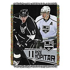 image of NHL Los Angeles Kings Anze Hopitar Player Woven Tapestry Throw Blanket