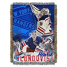 image of NHL New York Rangers Henrik Lundqvist Player Woven Tapestry Throw Blanket