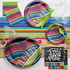image of Creative Converting™ 83-Piece Serape Fiesta Deluxe Party Supplies Kit