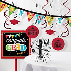 image of Creative Converting 11-Piece Head Of The Class Grad Decorations Kit