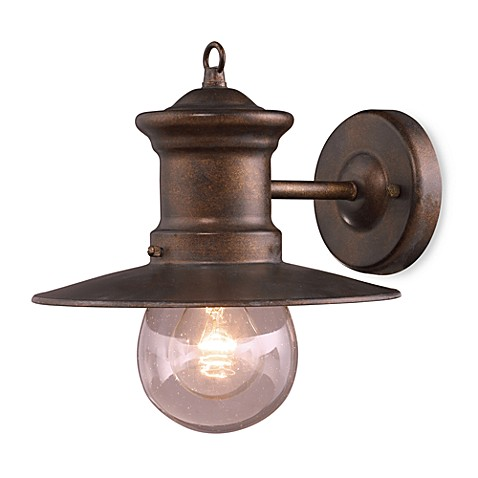 ELK Lighting Maritime 1-Light 10-Inch Wall Bracket in Hazelnut Bronze and Clear Seeded Glass