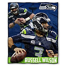 image of NFL Seattle Seahawks Russell Wilson Silk Touch Throw Blanket