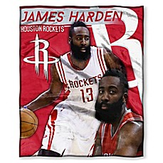 image of NBA Houston Rockets James Harden Silk Touch Throw Blanket