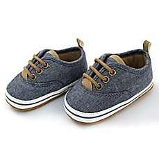 image of Rising Star™ Chambray Lace-Up Sneaker in Blue