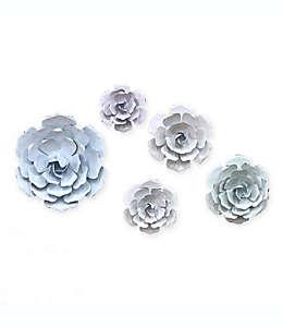 Set de flores decorativas para pared Black Box Marmalade en colores pastel, 5 piezas