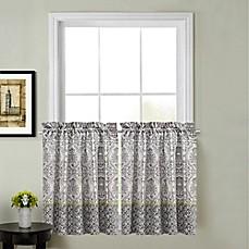 Calais Kitchen Window Curtain Tier Pair
