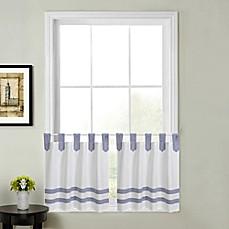Acadia Striped Kitchen Window Curtain Tier Pair