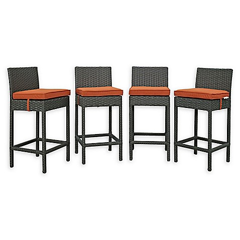 Modway Sojourn Outdoor Patio Barstools In Tuscan (Set Of 4)