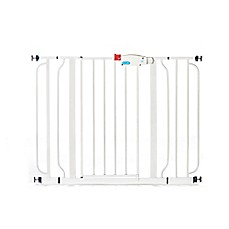 image of Regalo® Easy Step Metal Walk-Through Wide Gate