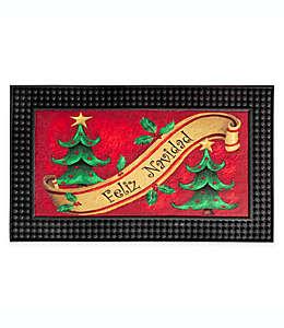 "Tapete para entrada ""Feliz Navidad"" con luces LED, 46.99 x 77.47 cm"