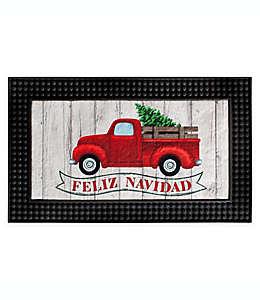 Tapete para entrada Christmas Truck con luces LED, 46.99 x 77.47 cm