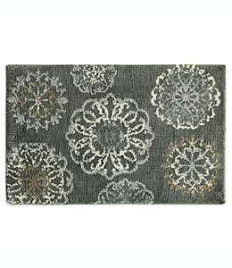 Tapete decorativo de poliéster Bacova Cashlon, 50.8 x 81.28 cm color gris carbón