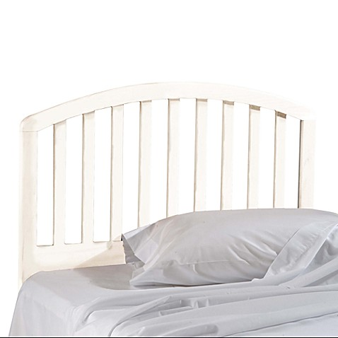 buy hillsdale carolina twin white headboard with rails from bed bath beyond. Black Bedroom Furniture Sets. Home Design Ideas