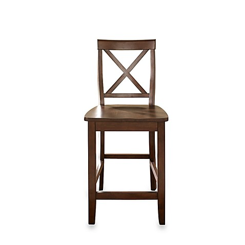 Crosley X-Back 24-Inch Bar Stool in Mahogany (Set of 2)