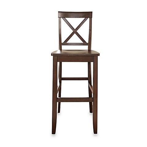 Buy Crosley X Back 30 Inch Barstool In Mahogany Set Of 2