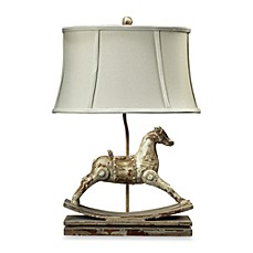 image of Dimond Lighting Traditional Parisian Clancey Court Rocking Horse Table Lamp