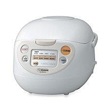 image of Zojirushi 5-1/2 Cup Micom Rice Warmer & Cooker in White