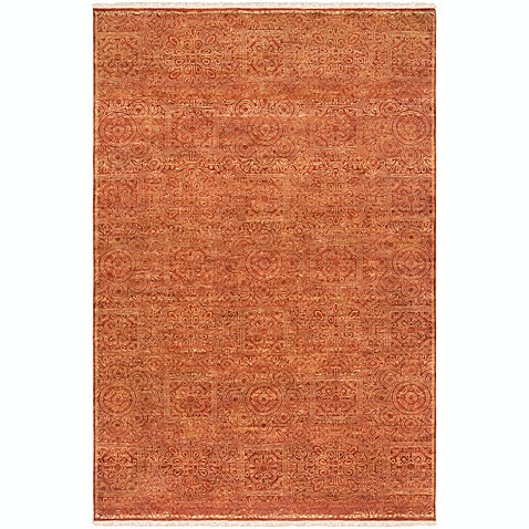 Surya Empress Classic Absract Floral 9' x 13' Hand-Knotted Area Rug in Burnt Orange