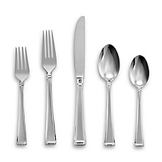 image of Gorham® Column Frosted™ 5-Piece Flatware Place Setting