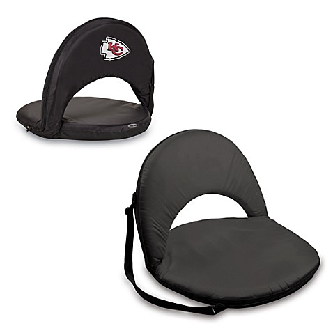 Picnic Time® Kansas City Chiefs Oniva Portable Reclining Seat in Black