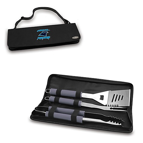 Picnic Time® Carolina Panthers Metro BBQ Tote with Tools in Black