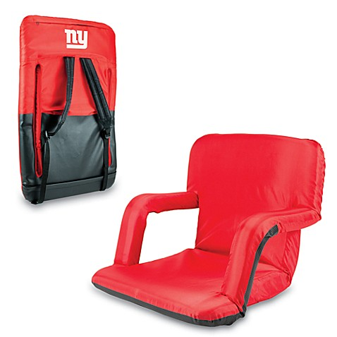 Picnic Time Portable Ventura Reclining Seat - New York Giants (Red)