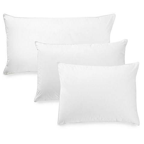 Seasons collectionr luxury batiste white goose down back for Best down pillows for stomach sleepers
