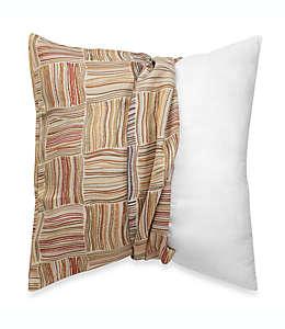 Funda para cojín Make-Your-Own-Pillow Flourish en café