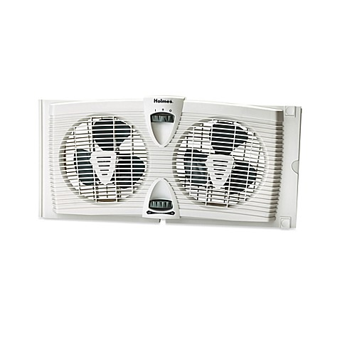 Holmes 174 Dual Blade Twin Window Fan With Thermostat Bed