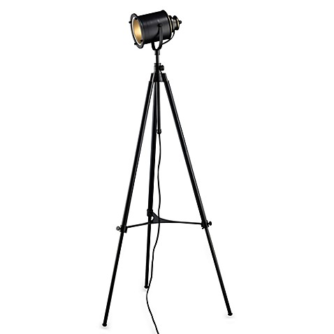 Dimond Lighting Ethan Adjustable Restoration Black Tripod Floor Lamp