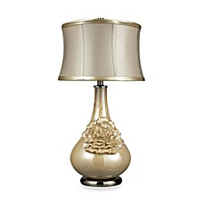 image of Dimond Lighting Elenaor Pearlescent Cream Table Lamp