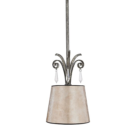 Kendra Mini-Pendant Light in Mottled Silver and Pearly Mica
