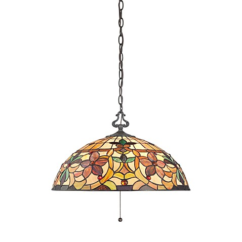 Kami 3-Light Pendant with Vintage Bronze and Tiffany Glass