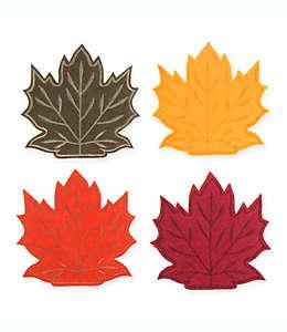 Set de bolsas decorativas para cubiertos Maple Leaf, 4 piezas