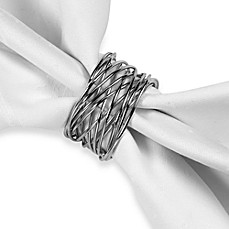 image of Twisted Wire Napkin Ring in Silver