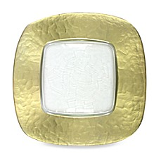 Gold-Edge Glass Square Charger Plate  sc 1 st  Bed Bath u0026 Beyond & Silver u0026 Gold Charger Plates Square Charger Plates | Bed Bath u0026 Beyond