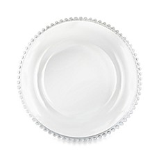 image of Charge It by Jay! 13-Inch Beaded Glass Charger Plate