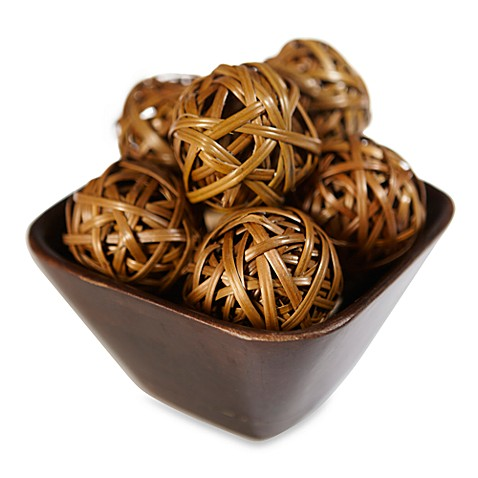 Natural Decorative Balls Simple Nearly Natural Decorative Balls Set Of 12  Bed Bath & Beyond Design Inspiration