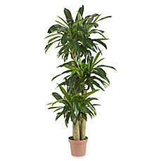 image of Nearly Natural Real TouchIndoor/Outdoor 57-Inch Tropical Silk Corn Stalk Dranaena Plant