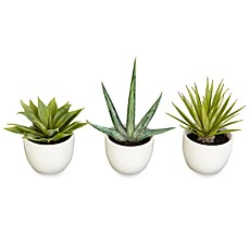image of Nearly Natural Southwest Silk Agave Collection (Set of 3)