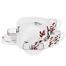image of Corelle® Kyoto Leaves 16-Piece Dinnerware Set