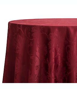 Mantel redondo otoñal con diseño de enredadera, 1.77 m en vino