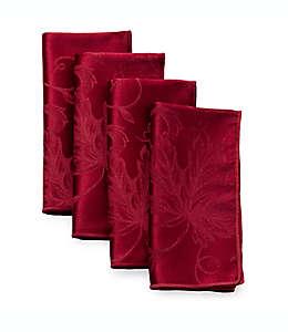 Servilletas de tela otoñales con diseño de enredadera en vino, Set de 4