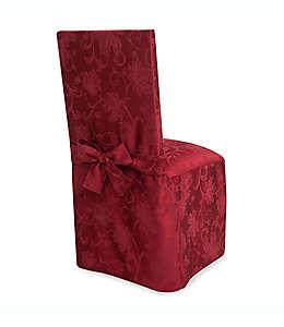 Funda otoñal para silla de comedor con diseño de enredadera en vino