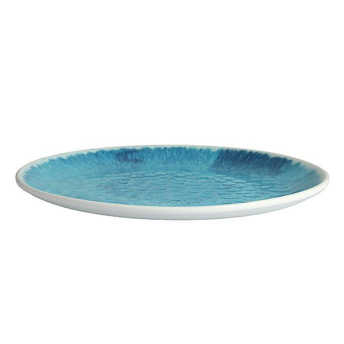 Flora 11 Inch Coupe Melamine Plates In Blue Set Of 12 Bed Bath Beyond