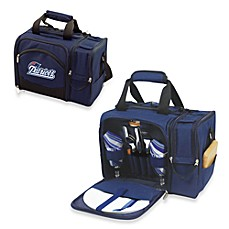image of Picnic Time® Malibu Insulated Cooler/Picnic Basket in New England Patriots