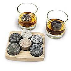 image of Sea Stones™ On The Rocks Granite Drink Chillers (Set of 6)