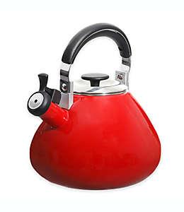 Tetera redonda esmaltada Mr. Coffee® de acero en rojo de 2.83 L
