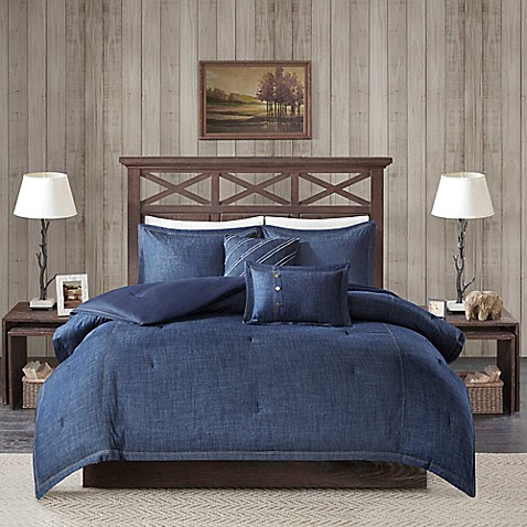 Woolrich 174 Perry Denim Comforter Set Bed Bath Amp Beyond
