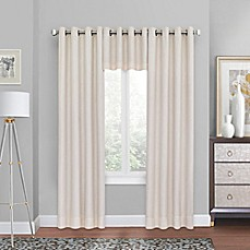 Quinn Grommet Top Blackout Window Curtain Panel and Valance